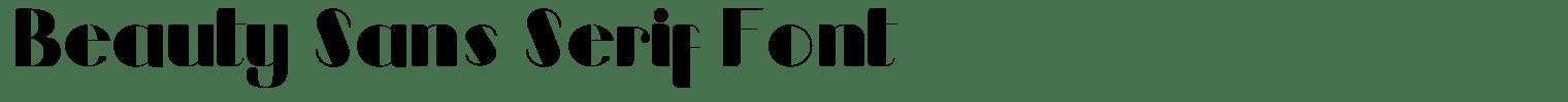 Beauty Sans Serif Font