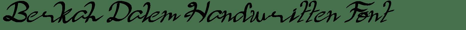 Berkah Dalem Handwritten Font