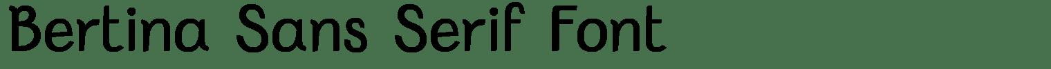 Bertina Sans Serif Font