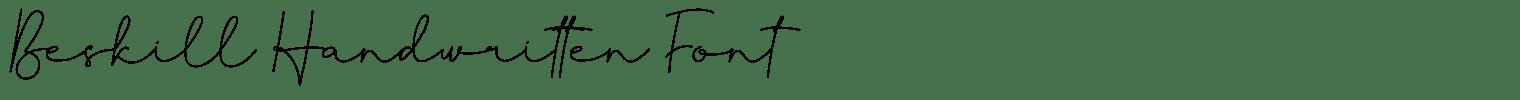 Beskill Handwritten Font