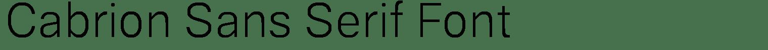 Cabrion Sans Serif Font