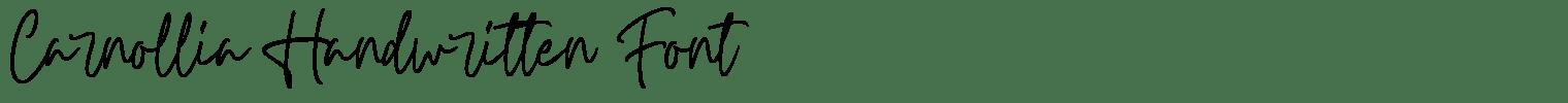 Carnollia Handwritten Font