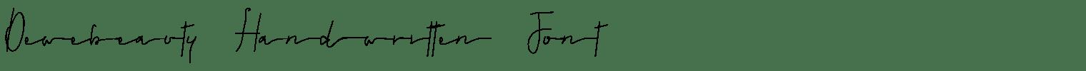 Dewebeauty Handwritten Font