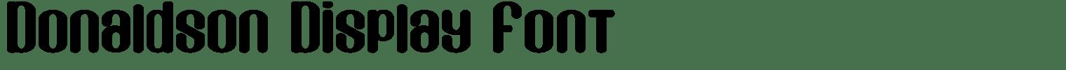 Donaldson Display Font