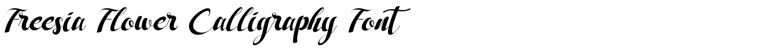 Freesia Flower Calligraphy Font