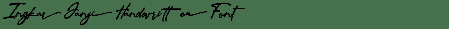Ingkar Janji Handwritten Font