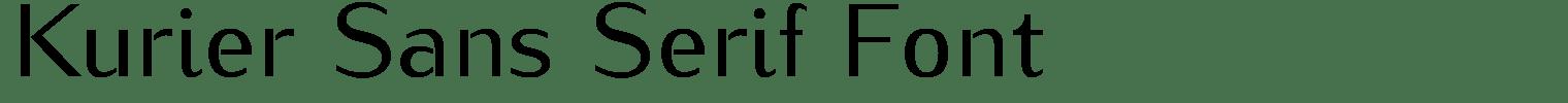 Kurier Sans Serif Font