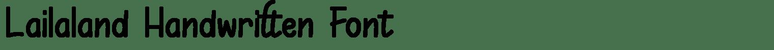 Lailaland Handwritten Font