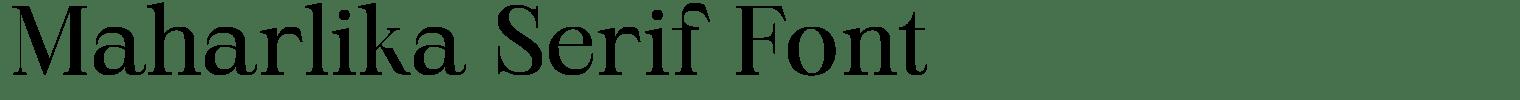 Maharlika Serif Font