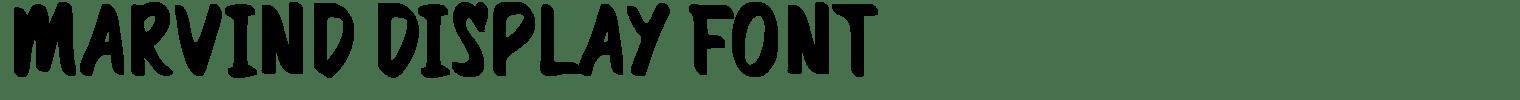 Marvind Display Font