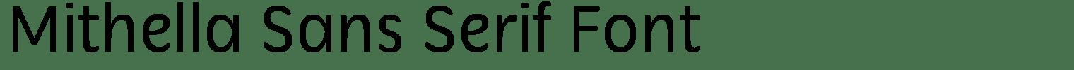 Mithella Sans Serif Font