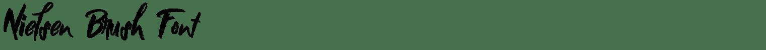 Nielsen Brush Font