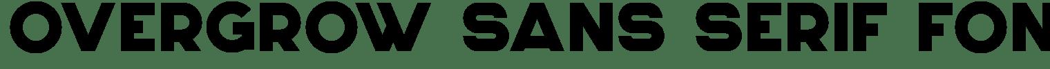 Overgrow Sans Serif Font