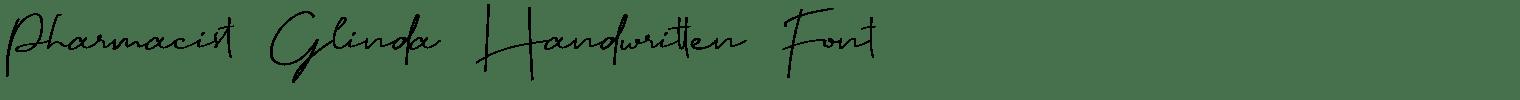 Pharmacist Glinda Handwritten Font