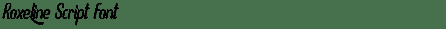 Roxeline Script Font