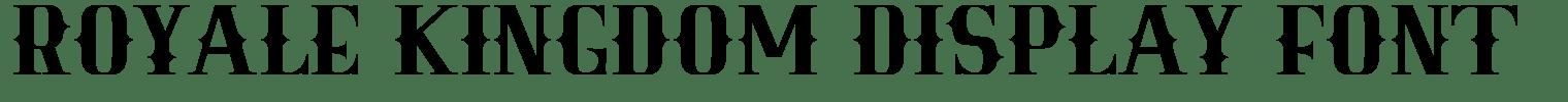 Royale KIngdom Display Font