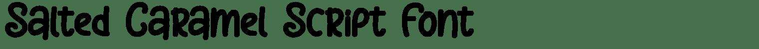 Salted Caramel Script Font