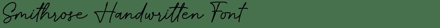 Smithrose Handwritten Font