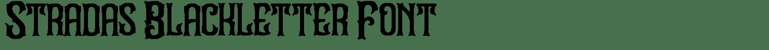 Stradas Blackletter Font
