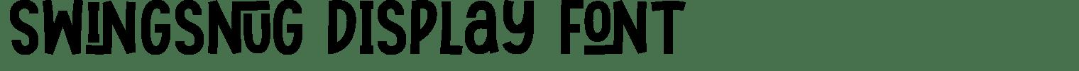 Swingsnug Display Font
