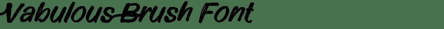 Vabulous Brush Font