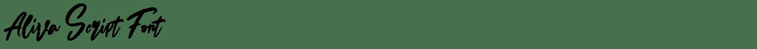 Aliva Script Font