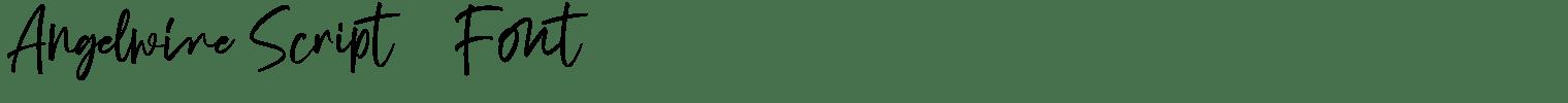 Angelwine Script   Font