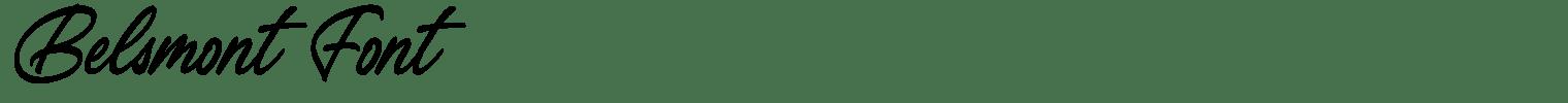 Belsmont Font