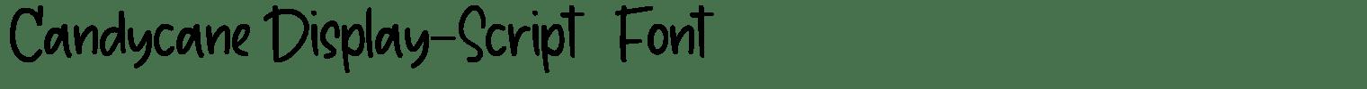 Candycane Display-Script   Font