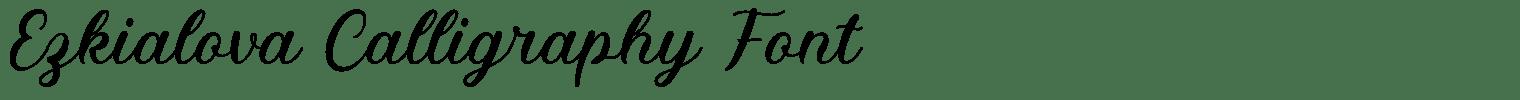 Ezkialova Calligraphy Font