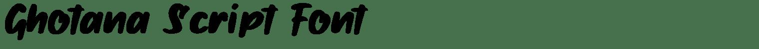 Ghotana Script Font