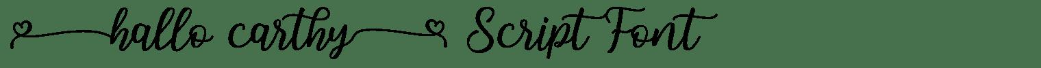 Hallo Carthy Script Font