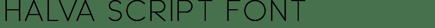 Halva Script Font
