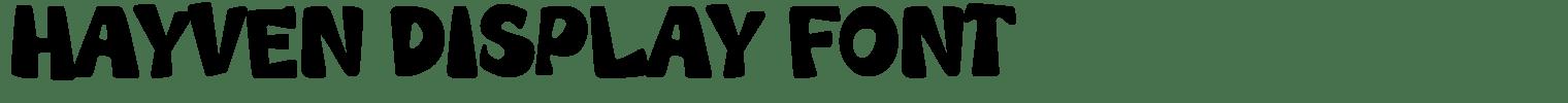 Hayven Display Font