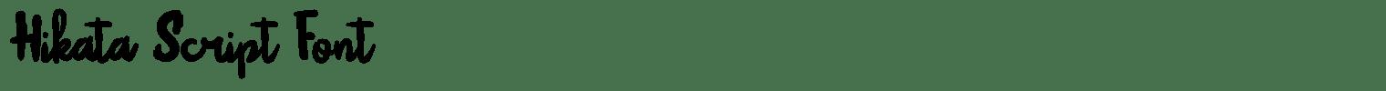 Hikata Script Font