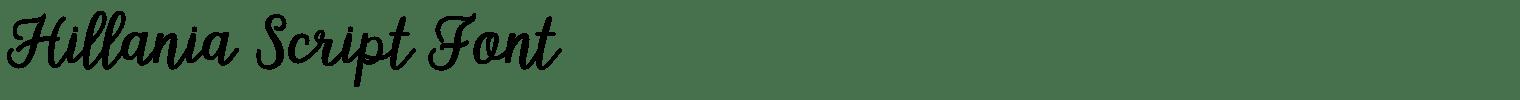 Hillania Script Font