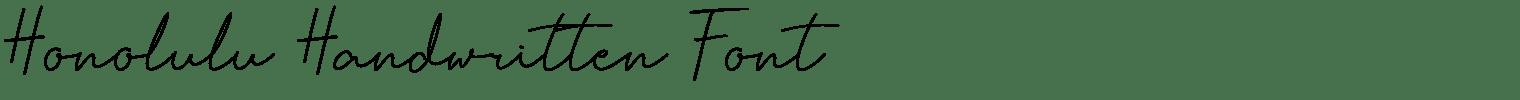 Honolulu Handwritten Font