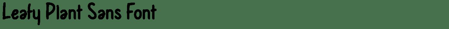 Leafy Plant Sans Font