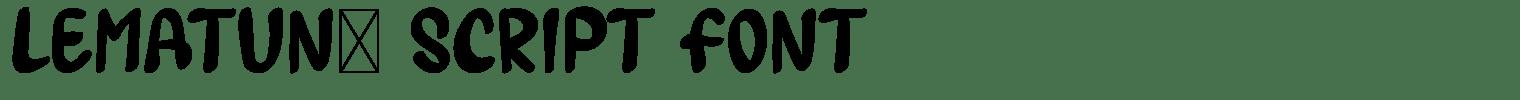 Lematun1 Script Font