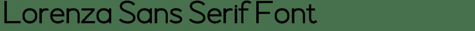 Lorenza Sans Serif Font