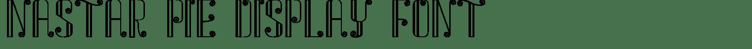 Nastar Pie Display Font