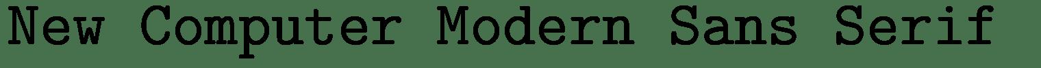 New Computer Modern Sans Serif  Font