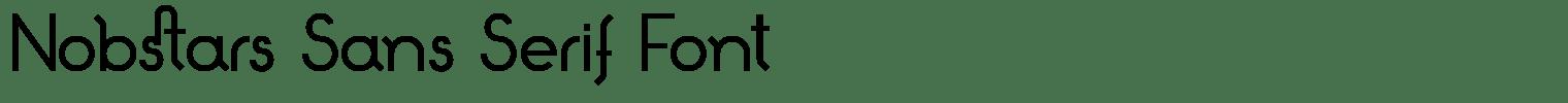 Nobstars Sans Serif Font
