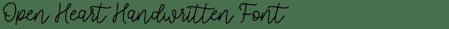 Open Heart Handwritten Font