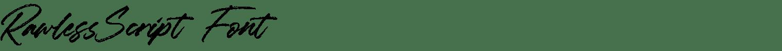 RawlessScript  Font