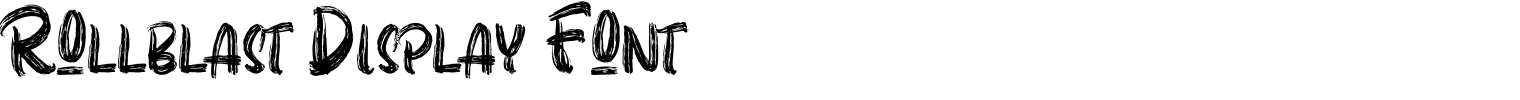Rollblast Display Font