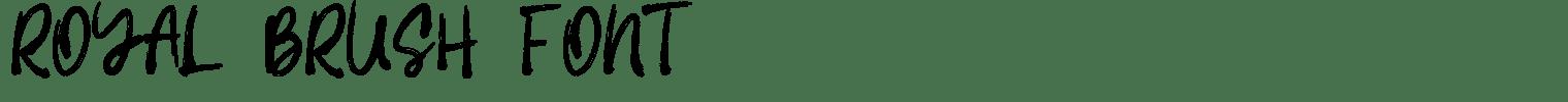 Royal Brush Font
