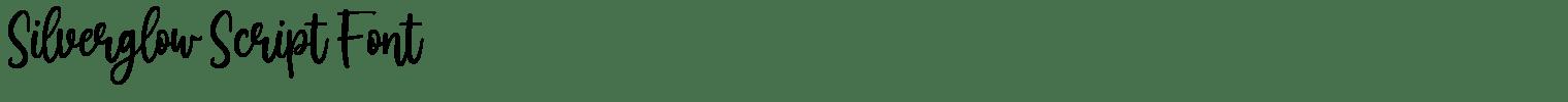 Silverglow Script Font