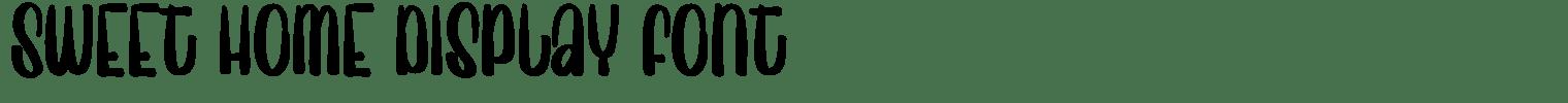 Sweet Home Display Font