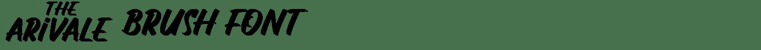 The Arivale Brush Font